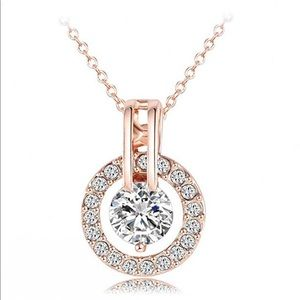 Jewelry - Rose Gold 18k Gold Plated Austrian Necklace